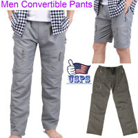 Men's Quick Dry Zip Off Convertible Pants Stretch Shorts Outdoor Hiking Trousers