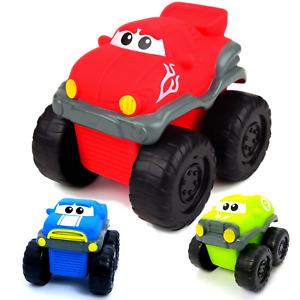 3er SET/1x Kinder Spielzeug lustige Monster Trucks Cars Auto Spielauto Motorik