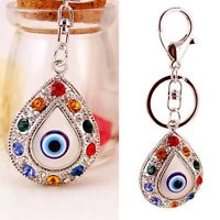 Classic Evil Eye Keychain Keyring Fashion Rhinestone Metal Key Chain Women Gift