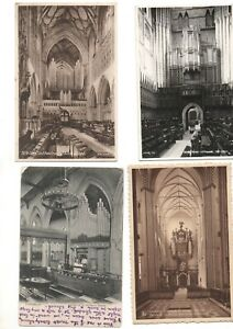 21 postcards:  CHURCH ORGANS