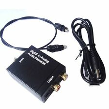 Coaxial Toslink Digital to Analog Audio Converter Adapter RCA R/L + USB Charger