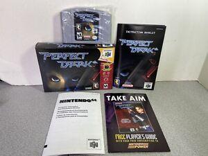 Perfect Dark Rareware Nintendo 64 N64 Authentic Complete Cartridge Manual Box