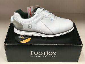 FootJoy Pro SL BOA 56848 White/Silver WATERPROOF Men's Golf Shoes 11W Were $160