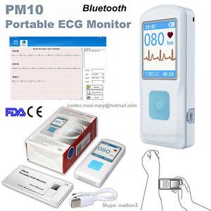 Portable Handheld ECG/EKG Bluetooth Heart Rate Monitor Digital Electrocardiogram