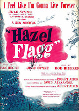 "Helen Gallagher (Signed) ""HAZEL FLAGG"" Benay Venuta / Jule Styne '52 Sheet Music"