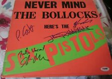 Sex Pistols Signed Lp Never Mind The Bollocks Johnny Rotton Jones Cook Matlock +