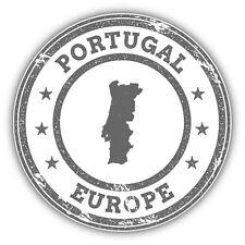Portugal Map Europe Grunge Rubber Stamp Car Bumper Sticker Decal 5'' x 5''