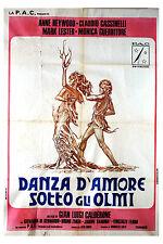 Anne Heywood DANZA D'AMORE SOTTO GLI OLMI manifesto 2F originale 1975