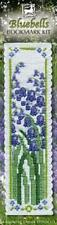 Bluebells Flower Bookmark Counted Cross Stitch Kit Textile Heritage