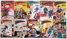"""(10) SUPERMAN COMICS 2"""" x 3"""" COVER MAGNETS - Superman #91-100"""