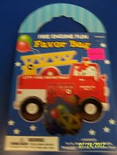 Fire Engine Fun Truck Firefighter Kids Birthday Party Gift Toy Favor Bag Pack