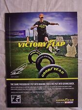 2011 Magazine Advertisement Ad Page Featuring Good Year Tires And Joey Logano