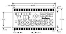 LCD 4-mux, 7 digits x 14 segments, progress bar, arrows