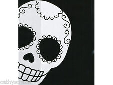 """10 Day Of The Dead 4x2x9"""" Cello Bags 1.2 mil Cellophane Gothic Skulls Halloween"""