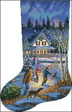 """""""Christmas Stocking #43"""" Cross Stitch Pattern Chart"""