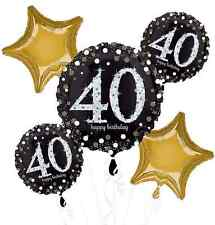Sparkling Celebration 40th Birthday Balloon Bouquet Party Supplies Fortieth, 40