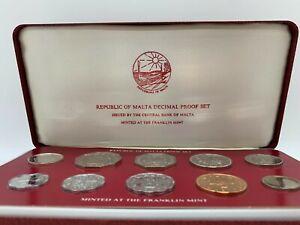 1979 Republic of Malta Proof Coin Set of 10