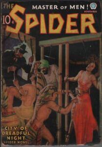 Spider 1936 November. Bondage cover.  Pulp
