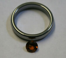 NATURAL CITRINE MADEIRA RED GEMSTONE 5.5MM ROUND CUT FACETED 0.5CT CI35C