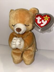 Extremely Rare Ty Beanie Baby Hope the Praying Bear (1998) With Lots Of Errors