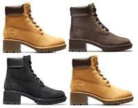 Timberland Womans Kinsley 6 inch Water Proof Boots Memory Foam Wheat Black Brown