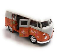 Modellauto VW T1 Love Bulli Bus Love Orange Auto 1:34-39 (lizensiert)