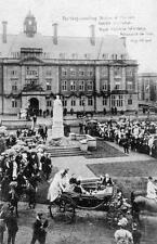 Newcastle on Tyne unveiling Statue Royalty Royal Victoria Infirmary 1906 old pc