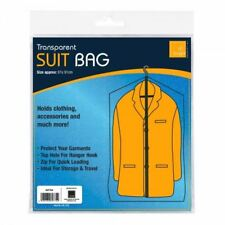 Transparent Suit Bag zip up hanging cover protector 61x91cm