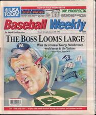 George Steinbrenner New York Yankees USA Today Baseball Weekly Jan 15-28 1992