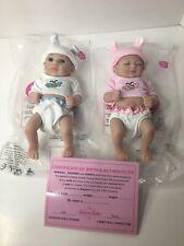 "10"" Reborn Baby Doll Infant Twins Boy+Girl 1 pair Newborn Dolls Kids Gifts 2PCS"
