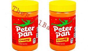 2 Peter Pan Original Peanut Butter, Creamy Peanut Butter Spread, 16.3 Oz