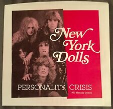 "NEW YORK DOLLS 'Personality Crisis / Trash 7"" PINK COLOR WAX 1973 Demos CBGB"