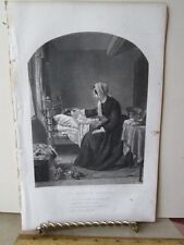 Vintage Print,MOTHERS BLESSING,Ladies Repository,c1857