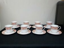Royal Majestic Fine China Seascape 8427 Set of 8 Cups and 8 Saucers