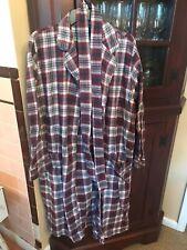 Lands End Men's plaid bathrobe size M