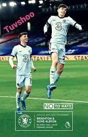 Chelsea v Brighton & Hove Albion PREMIER LEAGUE Programme 20/4/21 READY TO POST!