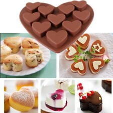 10-Cavity Heart Shaped Silicone Mold for Fondant Gum Paste Chocolate Crafts