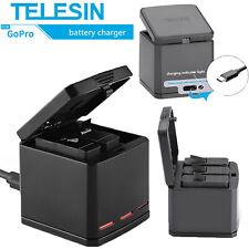 TELESIN Batteria Caricabatterie 3 Slots Charging Box per GoPro Hero 8 7 6 5
