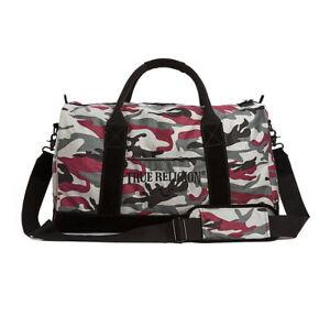 True Religion Brand Jeans Camo Duffle/Gym Bag/Purse - MCAMDGFL
