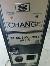 Rowe Bc-1200 $ 1 bill val Accepts coin changer for parts pick only