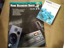 Home Recording Basics (Beginner Tech Series) & Basic Mixing Techniques Books