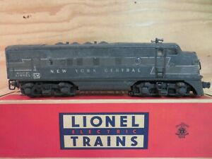 LIONEL TRAIN 2344 POSTWAR F3 LIGHTED NYC NEW YORK CENTRAL DUMMY ENGINE LOCO