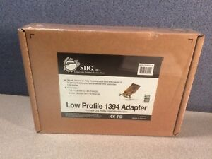 NEW SIIG Low Profile 1394 Firewire 3-port Adapter PCI-bus LP-N21011-S8