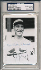 BILL WEE WILLIE SHERDEL Signed 3 1/2 x 5 St Louis Cardinals Photo Auto PSA/DNA