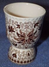 Masons Mason's Brown Bow Bells Floral Scrolls Double Egg Cup 4""
