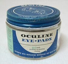 OLD Oculine Eye Pads Jar Advertising Medical Doctor Pharmaceutical Display Prop