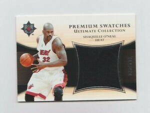 NBA : Shaq O'Neal Miami Heat Upper Deck Premium Game Worn Jersey Card #28/100
