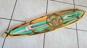 "Sector 9 Nine bamboo longboard deck 44"" long 9.75"" wide 30.5 wheelbase camber"