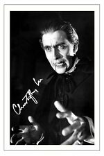CHRISTOPHER LEE SIGNED PHOTO PRINT AUTOGRAPH HORROR DRACULA