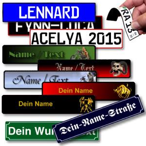 Namensschild Aufkleber Briefkastenschild Klingelschild Türschild